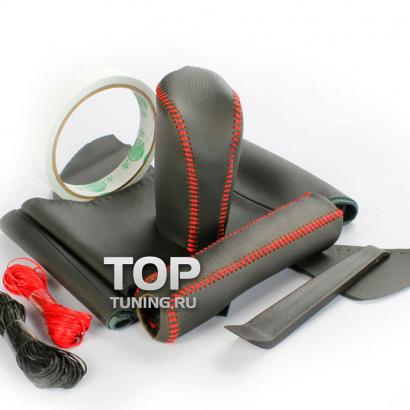 Кожаные оплетки руля, кпп, ручника на Toyota Land Cruiser Prado 150