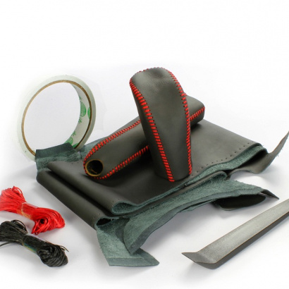 Кожаные оплетки руля, кпп, ручника на Subaru Forester 3