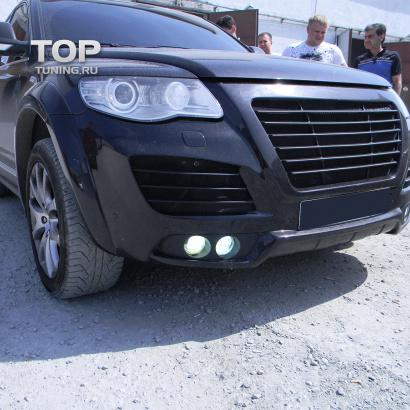 Решетки в передний бампер на VW Touareg I