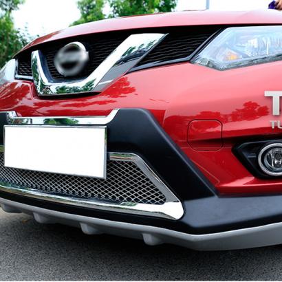 Юбка переднего бампера на Nissan X-Trail T32