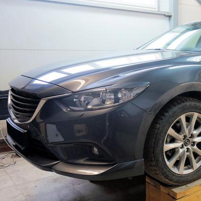 Юбка переднего бампера на Mazda 6 GJ
