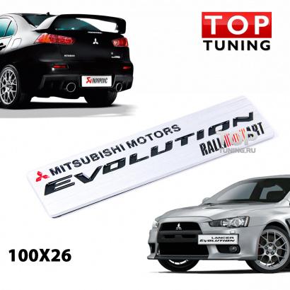 Эмблема наклейка на Mitsubishi