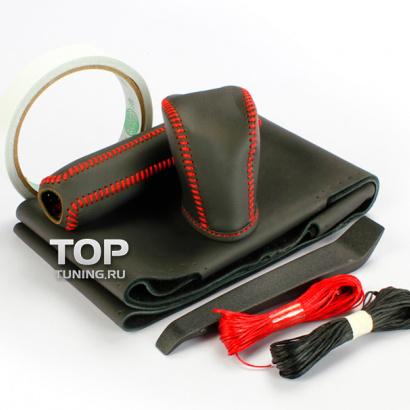 Кожаные оплетки руля, кпп, ручника на Toyota RAV4 3