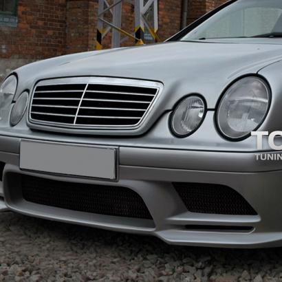 Передний бампер на Mercedes CLK-Class W208
