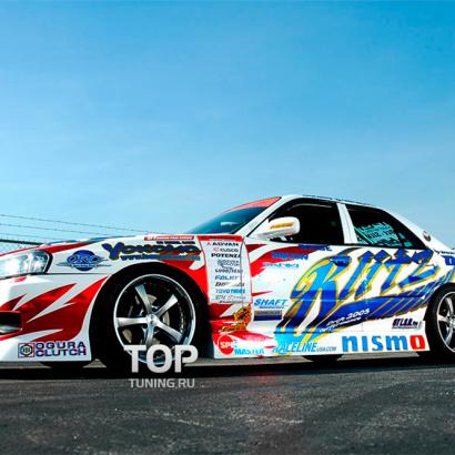 Комплект порогов на Nissan Skyline R34