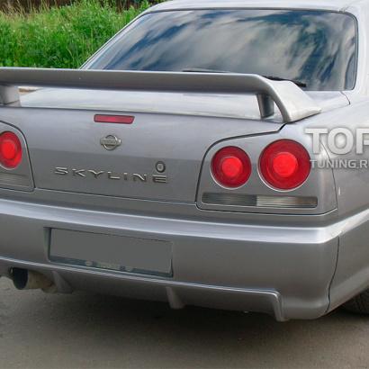 Задний бампер на Nissan Skyline R34