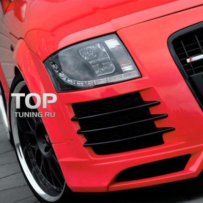 Передние линзованные фары на Audi TT 8N