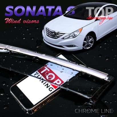 Дефлекторы на окна на Hyundai Sonata 6 (YF)