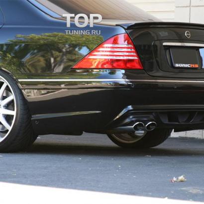 Лип спойлер на Mercedes S-Class W220