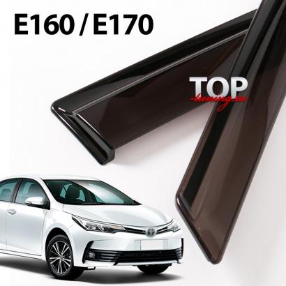 Дефлекторы на окна на Toyota Corolla E160