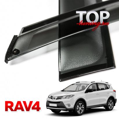 Дефлекторы на окна на Toyota RAV4 4
