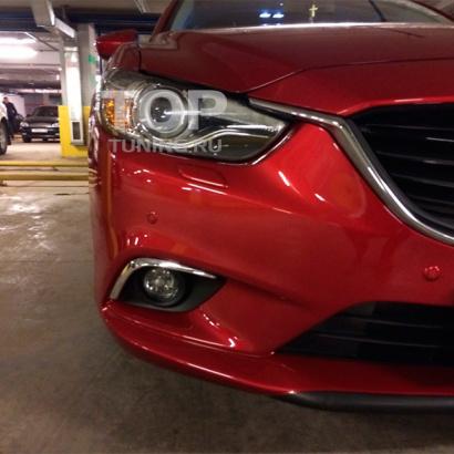 Верхние молдинги на ПТФ на Mazda 6 GJ