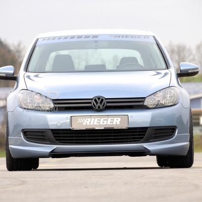Юбка на передний бампер  на VW Golf 6