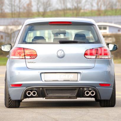 Накладка на задний бампер  на VW Golf 6