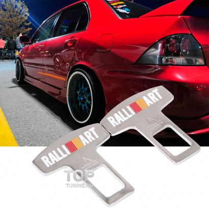 Матовые обманки ремней  RALLIART на Mitsubishi