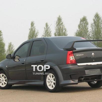 Задний бампер на Renault Logan