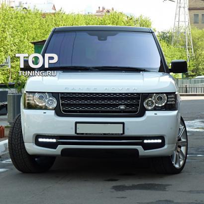 Юбка переднего бампера на Land Rover Range Rover Vogue 3
