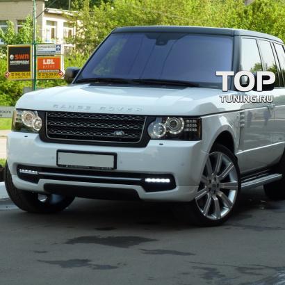 Диффузор переднего бампера на Land Rover Range Rover Vogue 3