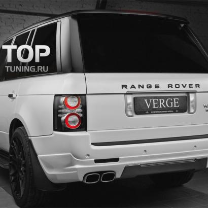 Накладка на задний бампер на Land Rover Range Rover Vogue 3