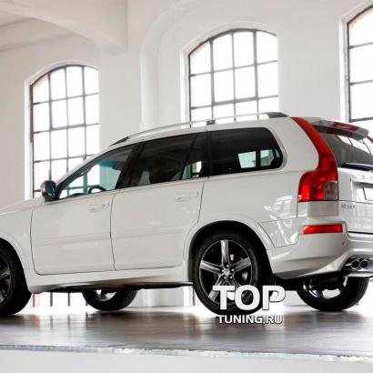 Накладки на пороги  на Volvo XC90 1