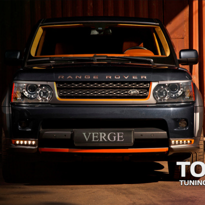 Защита переднего бампера на Land Rover Range Rover Sport L322
