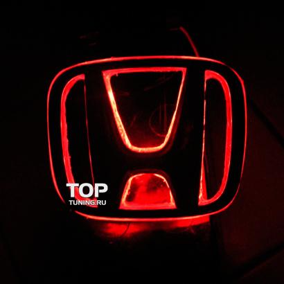 Светодиодная вставка под эмблему на Honda