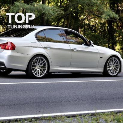 Накладки на пороги на BMW 3 E90