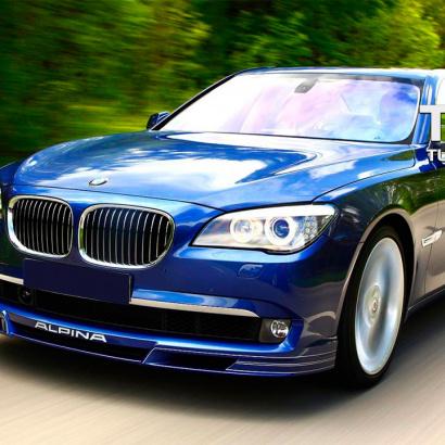 Юбка на передний бампер на BMW 7 F01