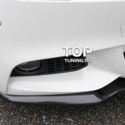 Элерон на передний бампер на BMW 5 F10
