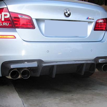 Диффузор заднего бампера на BMW 5 F10