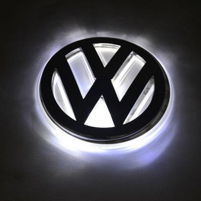 Светодиодная вставка под эмблему на VW