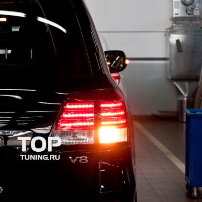 Задние фонари на Toyota Land Cruiser 200