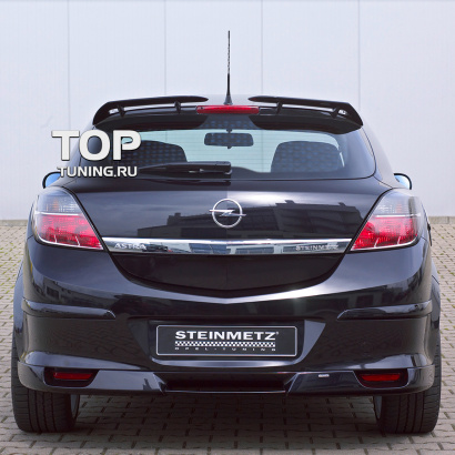 Накладка на задний бампер на Opel Astra H GTC