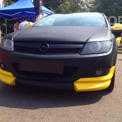 Накладка на передний бампер на Opel Astra H GTC