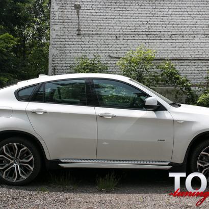 Накладки на пороги на BMW X6 E71