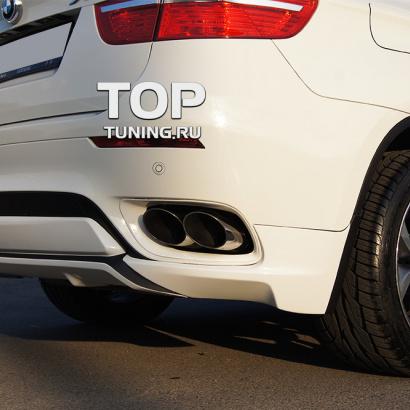 Сдвоенные выхлопные насадки на BMW X6 E71