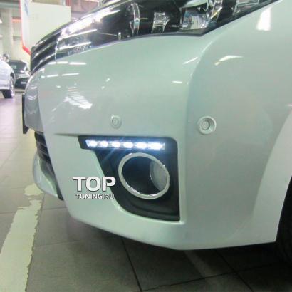Дневные ходовые огни на Toyota Corolla E160