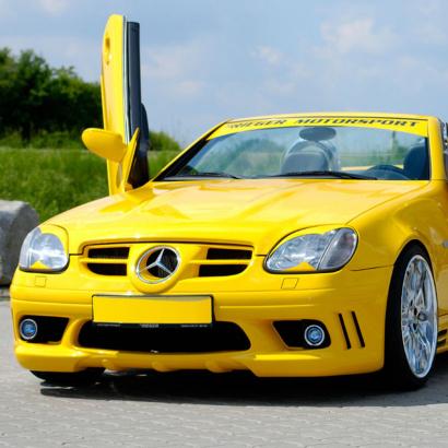 Передний бампер на Mercedes SLK R170