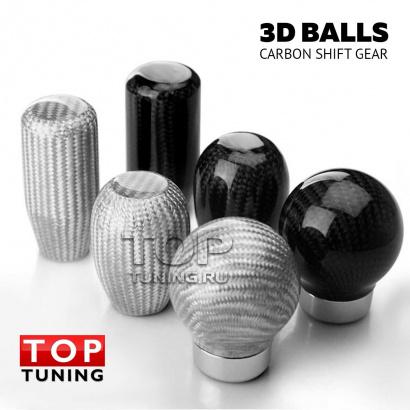 Ручка КПП Карбон 3D Balls