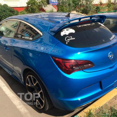 Спойлер на крышку багажника OPC на Opel Astra J
