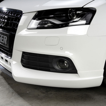 Накладка на передний бампер на Audi A4 B8