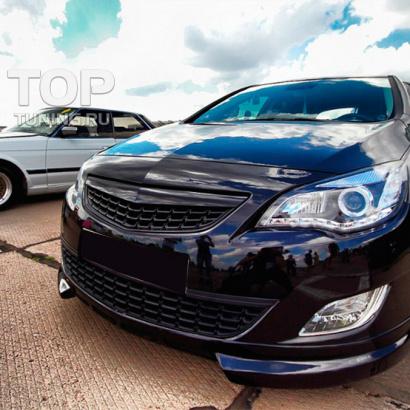 Юбка на передний бампер на Opel Astra J