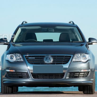 Накладка на передний бампер R-Line на VW Passat B6