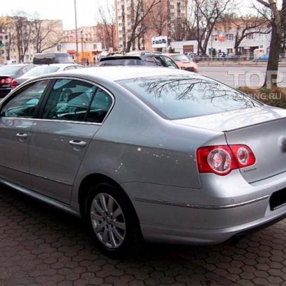 Накладка на задний бампер на VW Passat B6