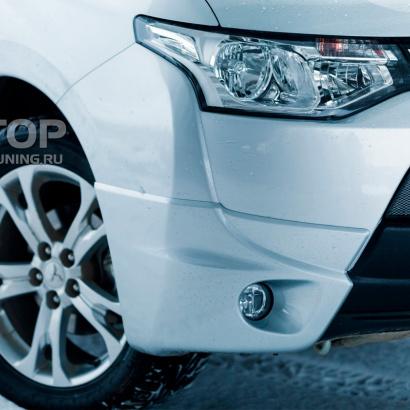 Накладки на передний бампер Samurai Fiber на Mitsubishi Outlander 3