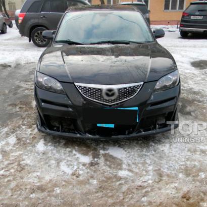 Передний бампер на Mazda 3 BK