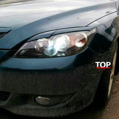 Накладки на фары на Mazda 3 BK