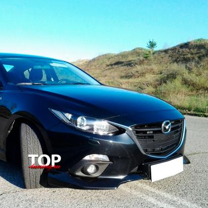 Подиум номерного знака на Mazda 3 BM