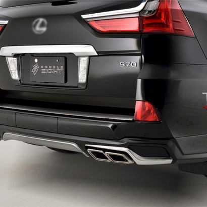 Накладка на задний бампер на Lexus LX570 UJR 200