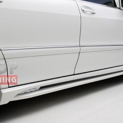 Пороги WALD Black Bison LONG  на Mercedes S-Class W220